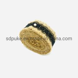 Commerce de gros rouleau de matériau de linge de décoration de Noël Ruban toile de jute