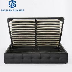 Moda moderno confortável em couro PU Lazer cama de madeira