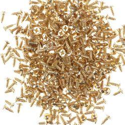 Плоские петли винта с крестообразным шлицем самонарезающий винт мебель латунные позолоченный лак для ногтей золотой крест с потайной головкой блока цилиндров 2*6 мм