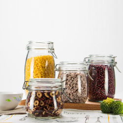 플립업 유리 주방 용기/밀폐 보관 식품 용기