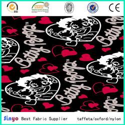 De Polyester van 100% doet de Stof van de Druk van het Hart van de Bagage met de Steun van pvc in zakken