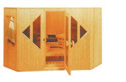 De houten Droge Sauna van de Stoomboot in Huis Polen voor KUUROORD