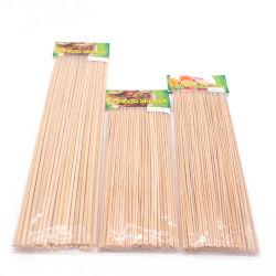 Solutions de rechange en plastique jetables de bambou gros BBQ Brochette de fruits de bâtons