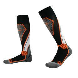 Invierno Deporte térmico personalizado de espesor Trekking telas calcetines de lana merino