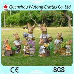 Ручная работа сад оформлены полимера заяц статуи