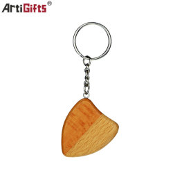 Alta qualidade personalizada de madeira elegante chaveiro barato