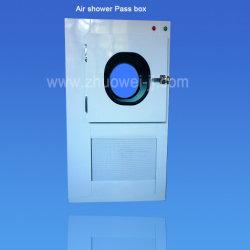 acier inoxydable Pass boîte avec une douche pour salle blanche de l'air