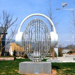 ステンレス鋼の彫刻を磨く景色ミラー
