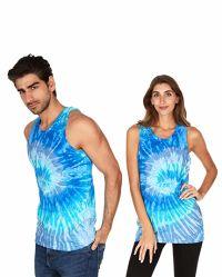 Il legame unisex personalizzato ha tinto la maglia divertente di sport di disegno variopinto delle parti superiori di serbatoio