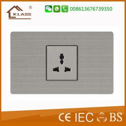 Kontaktbuchse Edelstahl-Panelelektrische 3 Pin-Mf mit Wand-Schalter