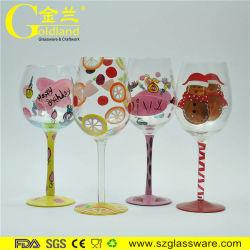 Colorido pintado à mão copo de vinho de cor única Drinkware Customized Copos