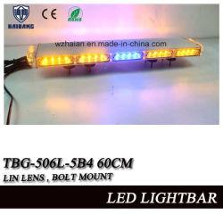 Lente lineal de 24 pulgadas mini Slim Barra de luz estroboscópica para vehículos de emergencia con tornillos de montaje