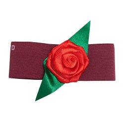 Venda Personalizada de todos os tipos de tamanho, forma um arco de Fita Vermelha no exterior para a embalagem da caixa de presentes de Natal