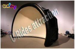 خيمة لون أسود قابلة للنفخ لمسرح Luna لعرض أو حدث