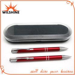 De fantastische Pen van het Aluminium die voor PromotiePunten (BP0113RD) wordt geplaatst