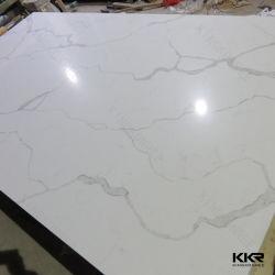lastra della pietra bianca del quarzo di 30mm Calacata grande per il banco del controsoffitto della cucina