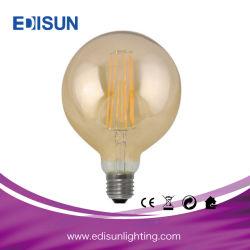 G95 4W/8 W E27 claro e de vidro âmbar de filamentos longos Lâmpada Lâmpada LED