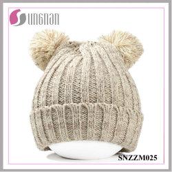 Winter-warme nette Bären-Ohr-starke warme Wollen gestrickte Hüte