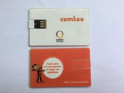 De transparante Aandrijving van de Flits van het Adreskaartje USB van het Wafeltje Met Sticker