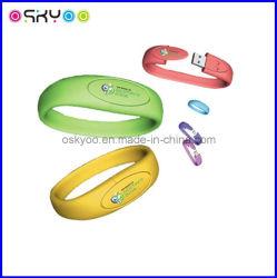 De gepersonaliseerde Armbanden van de Schijf van de Flits van het Silicone USB (P6110)