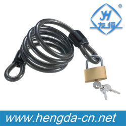 Yh1408 Cable de 1,8 m de largo bicicleta bloquear con candado de 40mm