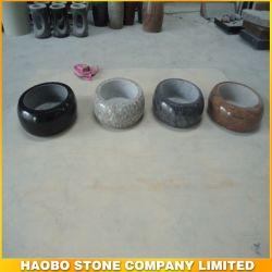 Granit naturel Vase ronde pour le cimetière de funérailles
