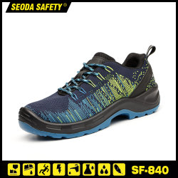 Semelle PU Flyknit tissu bottes de travail avec la sécurité de la sécurité TOE