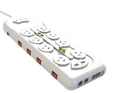 8 способов розетку переменного тока питания платы с 2 Smart зарядка через USB портов для Австралии