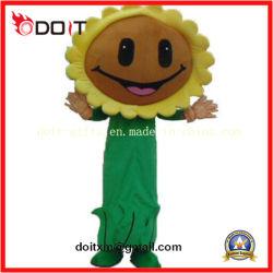 Het naar maat gemaakte Kostuum van de Mascotte van de Installatie van de Bloem van de Zon voor Volwassene