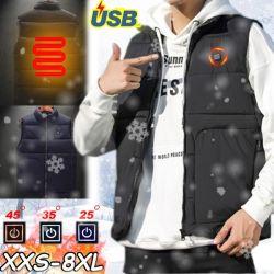USB intelligente di nuovo aggiornamento che riscalda i cappotti resistenti Sleeveless della chiusura lampo di inverno degli uomini o delle donne della maglia del vento pieno del rivestimento