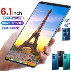 الإصدار العالمي من الهواتف المحمولة Android 6GB+128 GB HD بوصة Galaiy 6.1 HD معرف الوجه لبصمة الإصبع الهواتف المحمولة ثنائية SIM