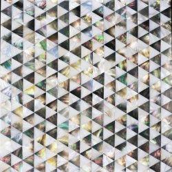 Mosaic من لون شيل الطبيعي باللون الأبيض والأسود وبلاط فسيفساء مختلط لمدة ديكور الجدار
