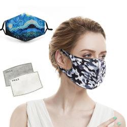 Form-Schablonen-antibakterielle Gewebe-Atemschutzmaske-waschbare Schablonen-mehrfachverwendbare Schablonen-Nano silbernes Faser-schützende Schablonen-Baumwollgesichtsmaske-Antimikroben