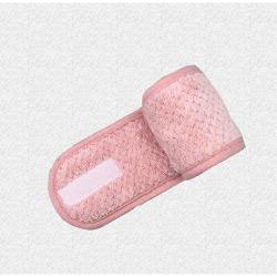 Paño de microfibra de felpa de pelo de cuello toalla SPA Headband Con cierre de velcro