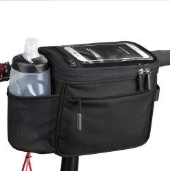 Große Kapazitäts-bewegliche wasserdichte Multifunktionsisolierfahrrad-Korb-Mittagessen-Kasten-Fahrrad-Lenkstange, die vorderer Kamera-Handtaschen-Telefon-Beutel-im Freienarbeitsweg-Riemen komprimiert
