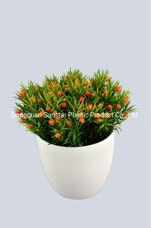 PET Hedyotis Kraut-künstliche Pflanze für Hauptdekoration (50131)