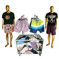 Los Hombres camiseta de la marca Premium pacas de cortos de algodón ropa usada vestidos Maxi de EE.UU.