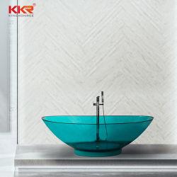 럭셔리 스톤 레진 욕조 화려한 프리샌딩 레진 욕조 블루 바텐트비 투명 욕조에