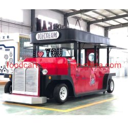 Maatwerk Dining Car Ice Cream Food Vending Cart Mobile Fast Voedselwagen Hot Dog Food Truck