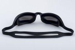 Top verkopende water Sport zwembril met spiegelglazen PC Veiligheidsbril Zwembril Zwarte siliconen zwembril