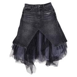 Lady′ S Mode Gaze Stretch Denim Röcke