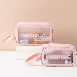 Moda Mujer regalos de Navidad Rosa Caja de herramienta Case de maquillaje Belleza viaje Equipaje de viaje China cremallera de PVC de Victoria Secret portador de promoción de la bolsa de cosméticos