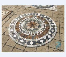 Jardín natural losa pavimentación Diseño azulejos para patio de Casa de Piedra Círculo pavimentadora