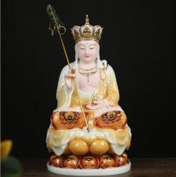 Estatua de Buda de Sanzang escultura de mármol de artesanía para la decoración del hogar