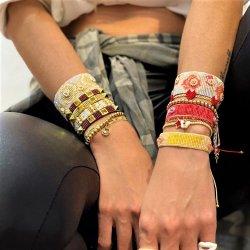Mlgm 2021 Pulsera Miyuki para niña mujer pulseras Pulseras Regalos Flor de la moda Brazalete de joyería Carta Bisutería Piercing brazaletes y pulseras de cuerda