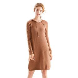 Hoodie long pull avec poches avant Womens Sweat-shirt robe
