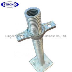 Parafuso ajustável Entrada base para tubo oco para andaimes Ringlock/Cuplock/Kwikstage
