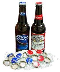 Tampas de garrafas de cerveja e tampas com designs personalizados