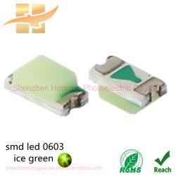 高性能 EPISTAR チップ SMD LED アイスグリーンライト Hx-0603-0.6t