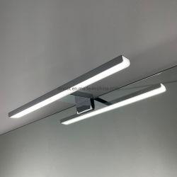 الطول 300 مم إضاءة الحمام مقاومة للماء مصابيح من الكروم ألومنيوم LED الحمام الزينة مصباح لميرور أو الخزانة مع RoHS CE IP44